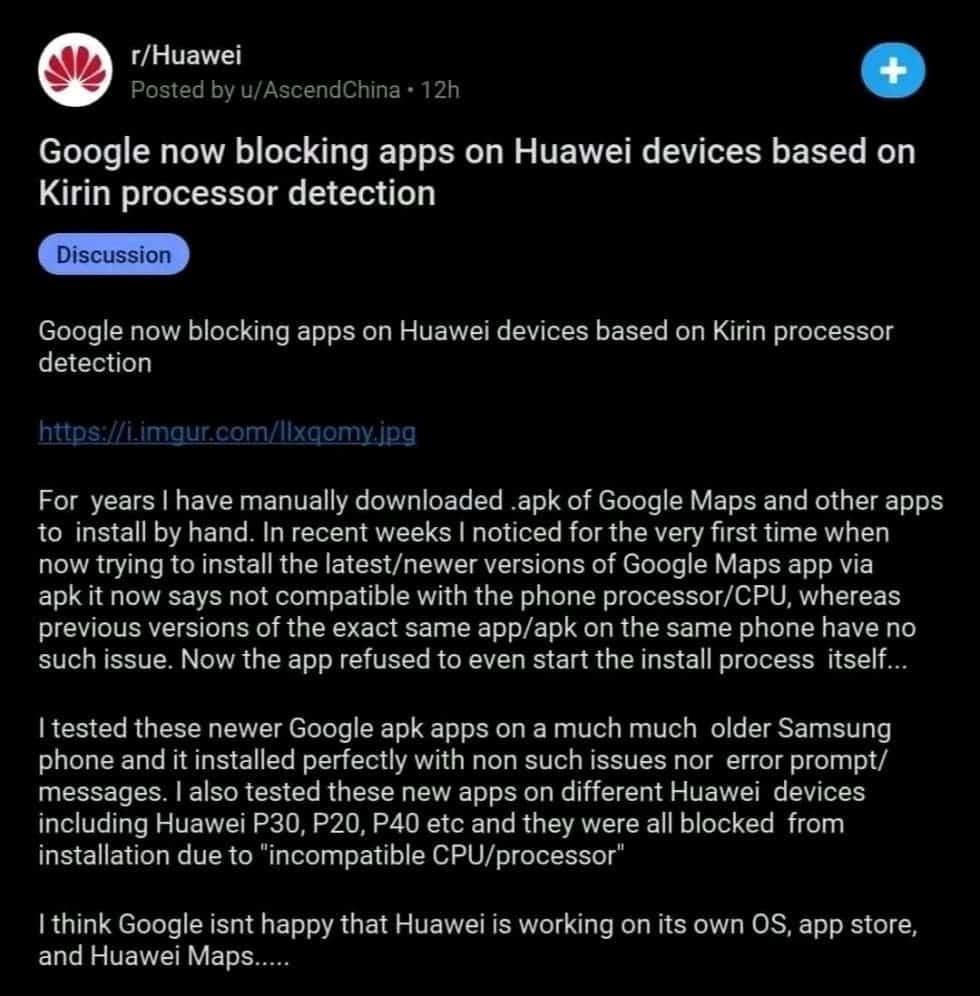Blokace aplikací na mobilech Huawei ze strany Googlu