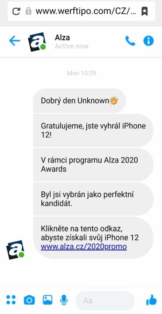 Podvodná SMS
