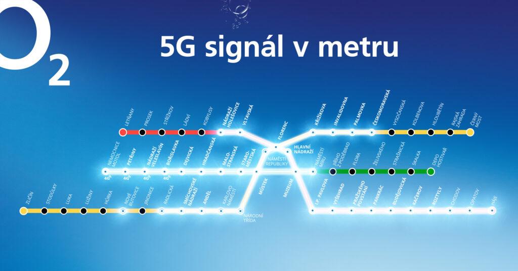 Mapa singálu 5G internetu O2