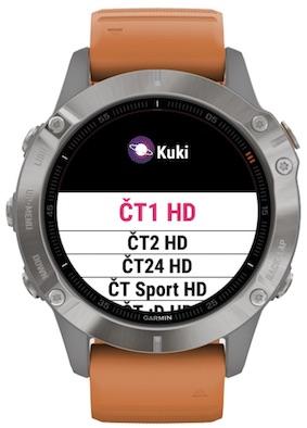 Aplikace Kuki pro chytré hodinky Garmin