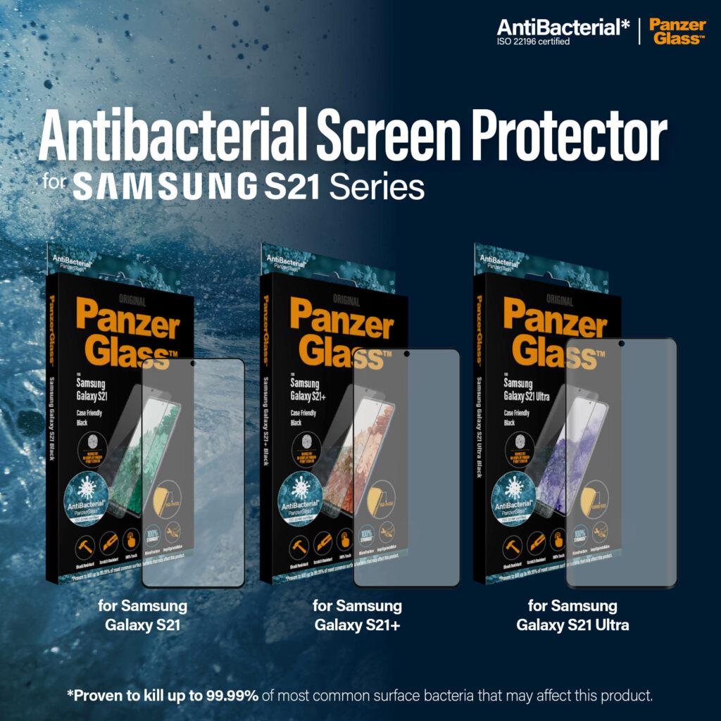 PanzerGlass představuje nová antibakteriální skla pro Samsung Galaxy S21