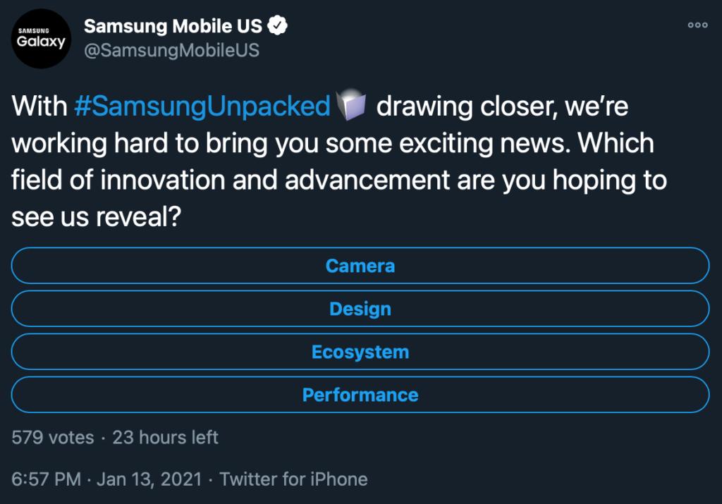 Samsung tweetoval z IPhonu
