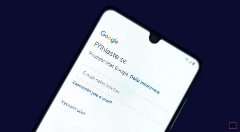Zakládání Google účtu