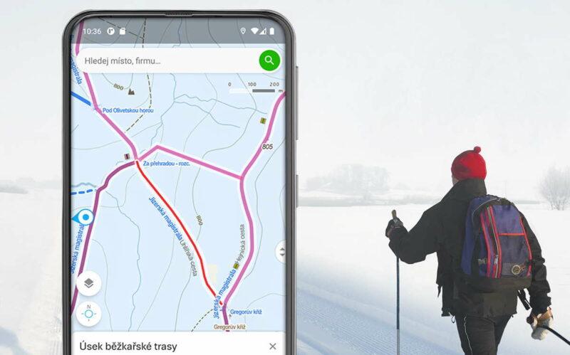 Mapy.cz nově informují o úrovni upravenosti běžkařských tras