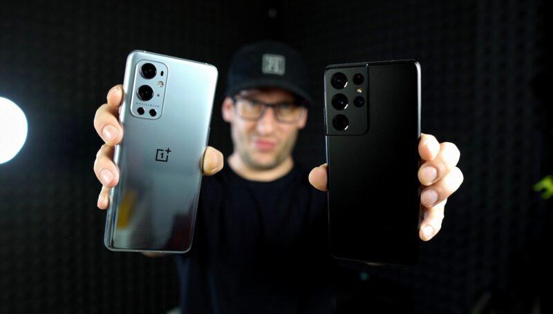 OnePlus 9 Pro a Samsung Galaxy S21 Ultra