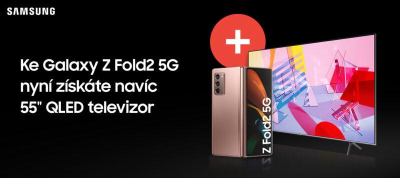 Při koupi Samsung Galaxy Z Fold2 5G získáte QLED TV za 1 K