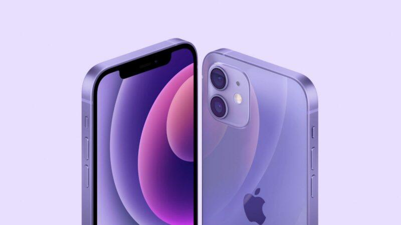 iPhone 12 ve fialové barvě
