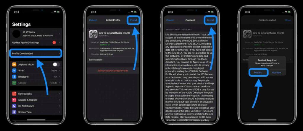 iPhone iOS 15 beta