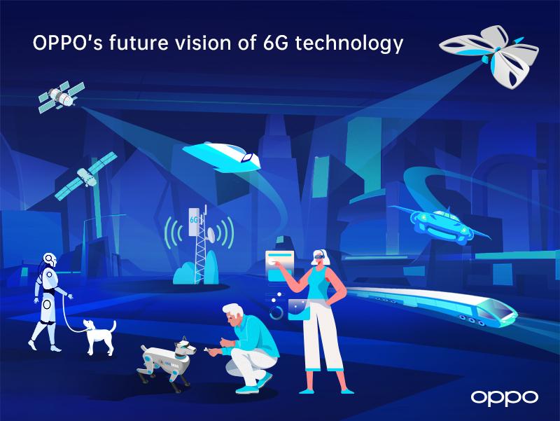 OPPO zveřejnilo studii o síti 6G s vizí komunikace nové generace