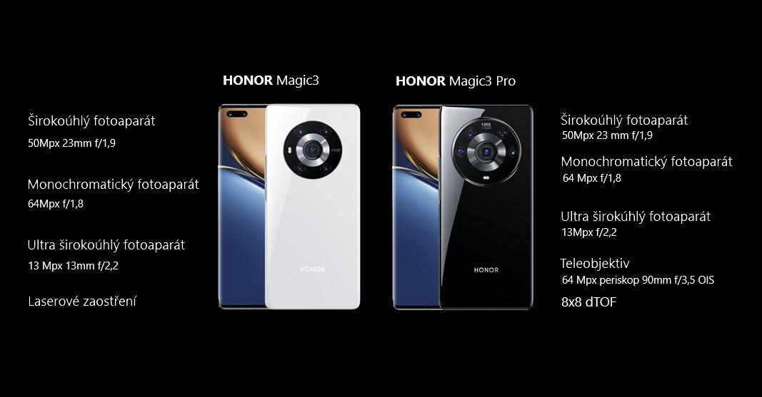 Fotoaparát v Honor Magic3 a Magic3 Pro