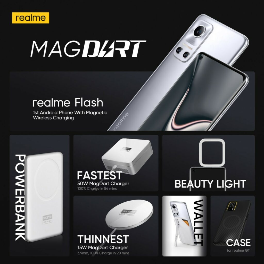 Ekosystém magnetického nabíjení Realme MagDart