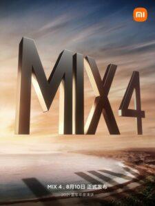 Oficiální pozvánka Xiaomi k představení telefonu Mi MIX 4