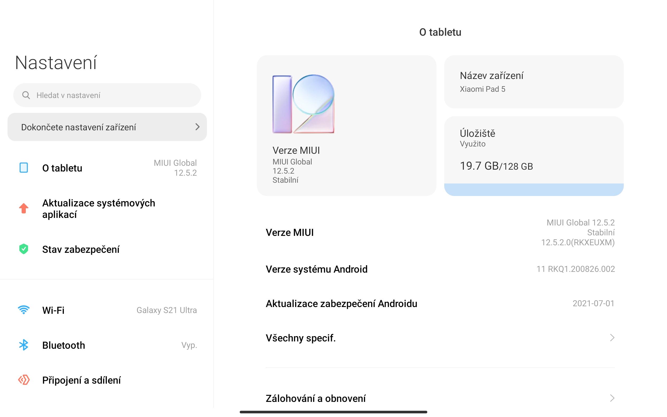 Xiaomi Pad 5 dorazil s nadstavbou MIUI 12.5.2