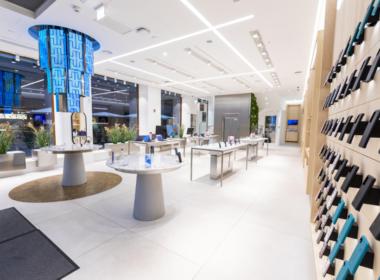 Huawei flagship store ve Vídni