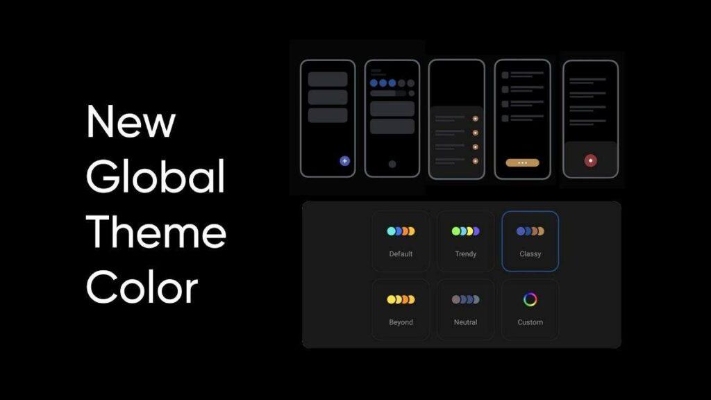 Realme UI 3.0 přináší barevné motivy
